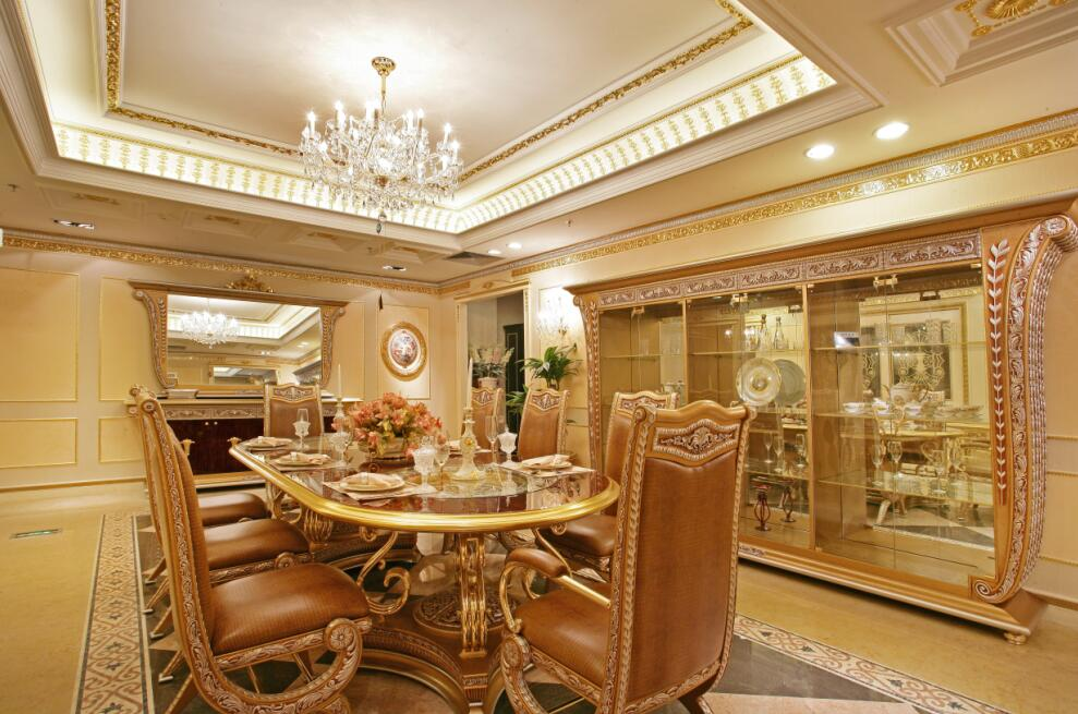 148平豪华欧式别墅家居装饰餐厅效果图