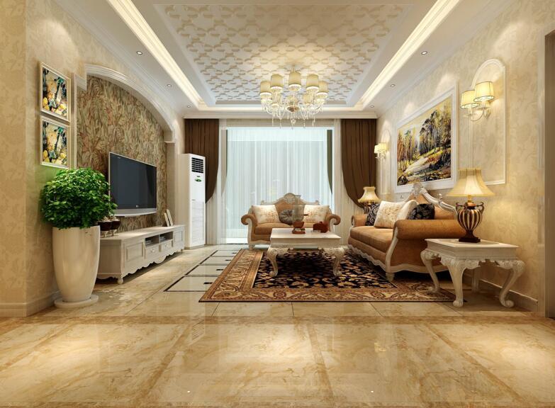 120平简欧风格三居家居装饰效果图欣赏图片