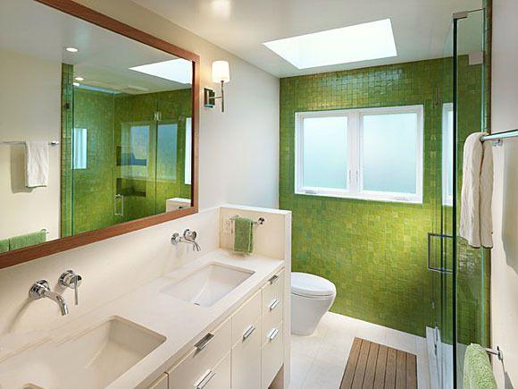 卫生间浅绿色瓷砖装修搭配 卫生间浅绿色瓷砖效果图
