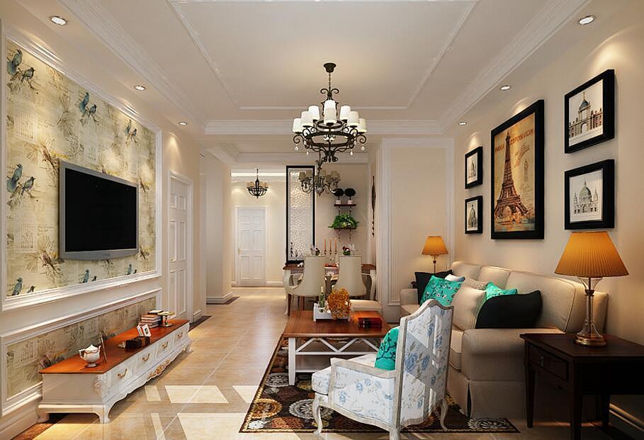 经典欧式风格别墅室内装修效果图