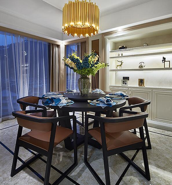 127㎡后现代风格三居室装修餐厅效果图