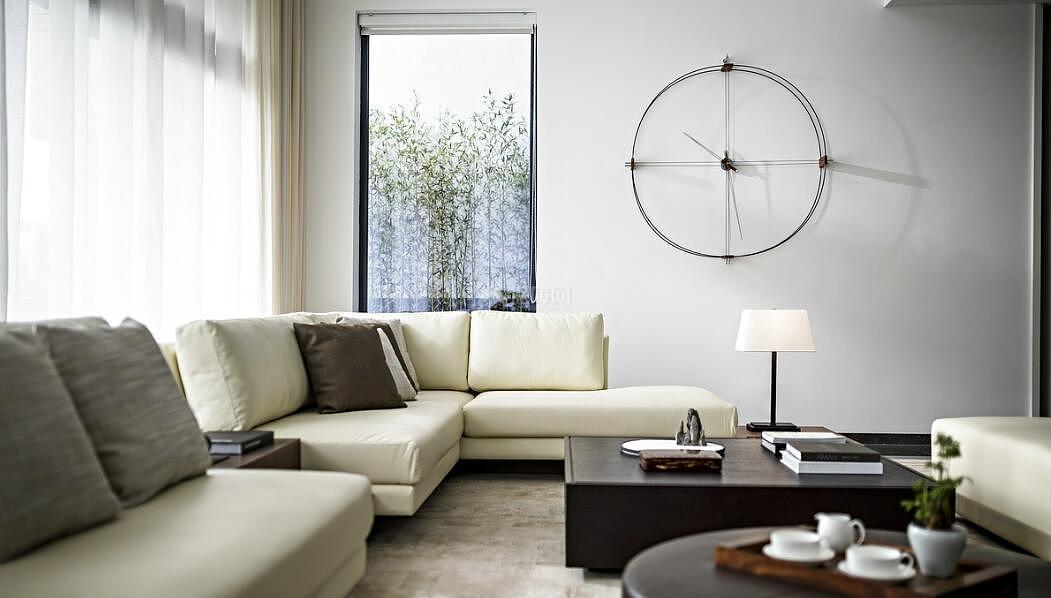 128平现代简约复式客厅沙发设计
