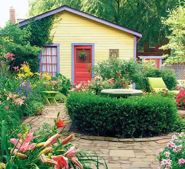庭院小花园设计效果图大全
