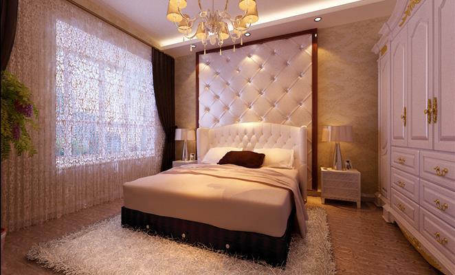 120平欧式风格家装案例图客厅背景墙 客厅背景墙黄色灯具靠垫
