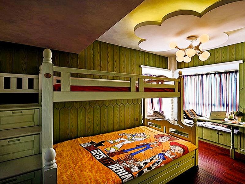 125.8平其他风格装修效果图卧室吊顶
