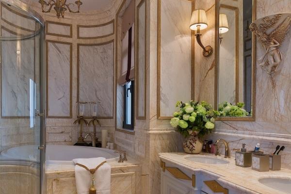 欧式风格洗手间效果图 卫生间吊顶白色灯具 点赞 收藏 免费户型设计