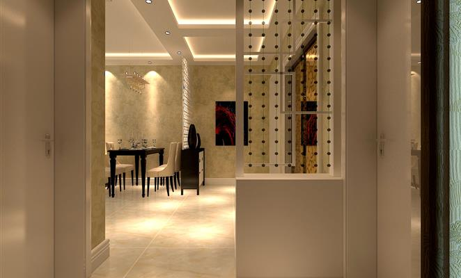 点赞 收藏 免费户型设计免费获取报价 过道 客厅隔断白色瓷砖 点赞