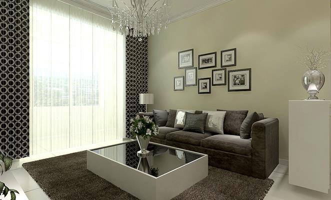 点赞 收藏 免费户型设计免费获取报价 沙发背景墙 客厅背景墙黑白涂料图片