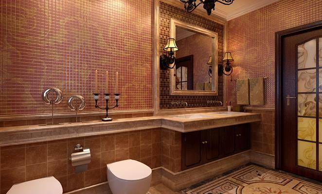 免费户型设计免费获取报价 卫生间 卫生间背景墙棕色(原木色)马桶 点