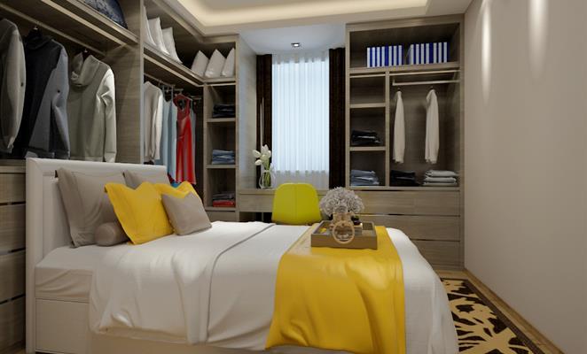 装修类型:家装 案例概览 点赞 收藏 免费户型设计免费获取报价 衣帽间