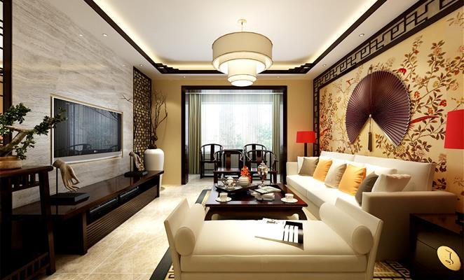 新中式风格客厅 现代中式简约风格客厅 新中式风格装修效果图