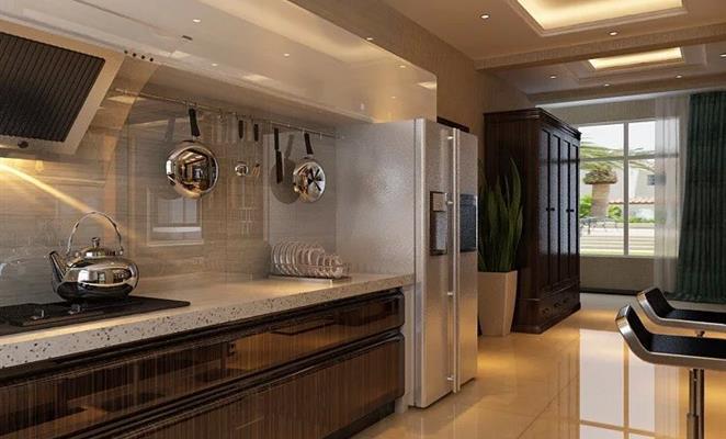 点赞 收藏 免费户型设计免费获取报价 敞开式厨房 厨房吊顶白色灯具图片