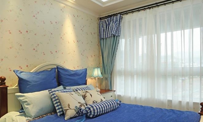 欧式卧室床头纱