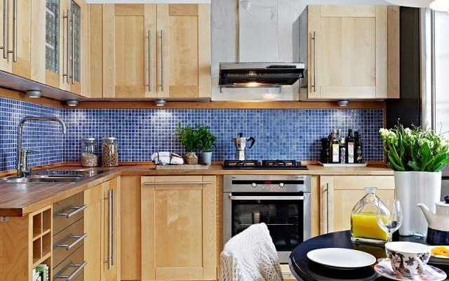 背景墙蓝色壁纸床垫 点赞 收藏 免费户型设计免费获取报价 开放式厨房