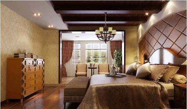 380平新中式风格休闲雅致卧室飘窗