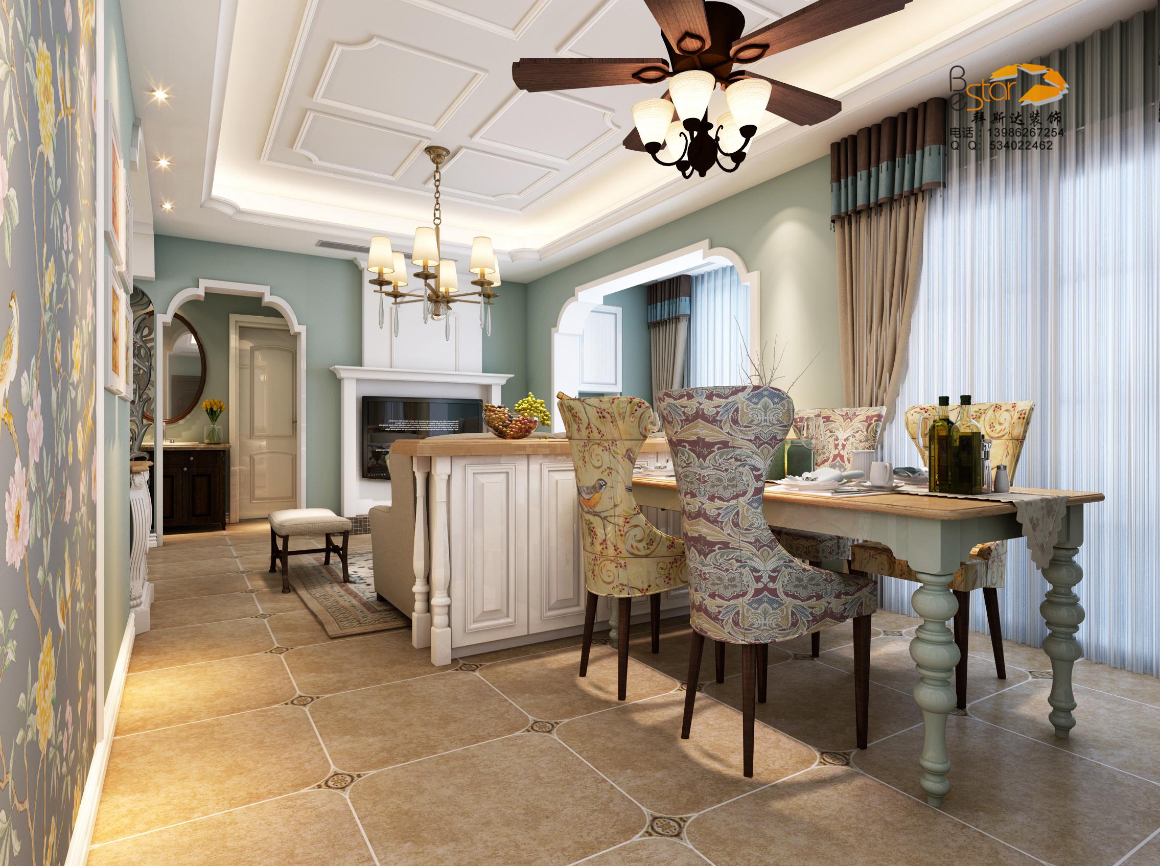 免费设计与报价加入收藏 餐厅餐厅背景墙绿色板材靠垫 客厅 美式  三