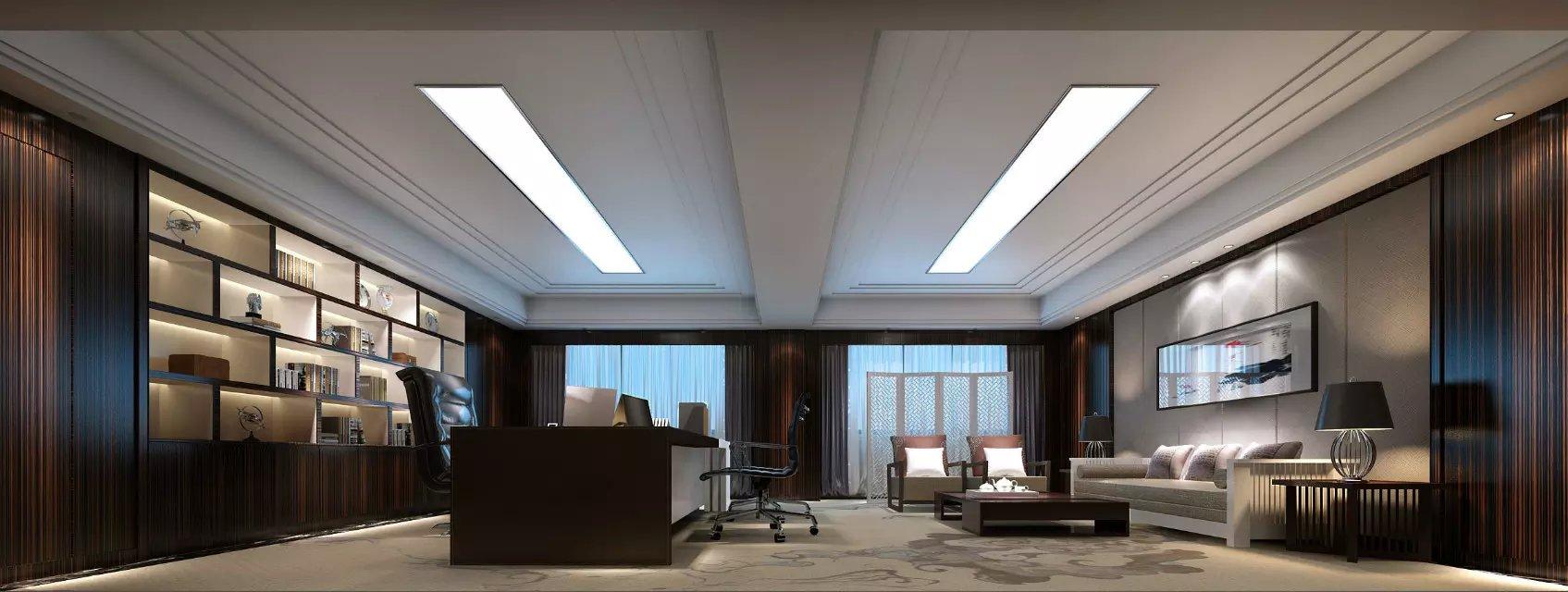 中式简约风格办公室装修图_装修图片-保障网装修效果图
