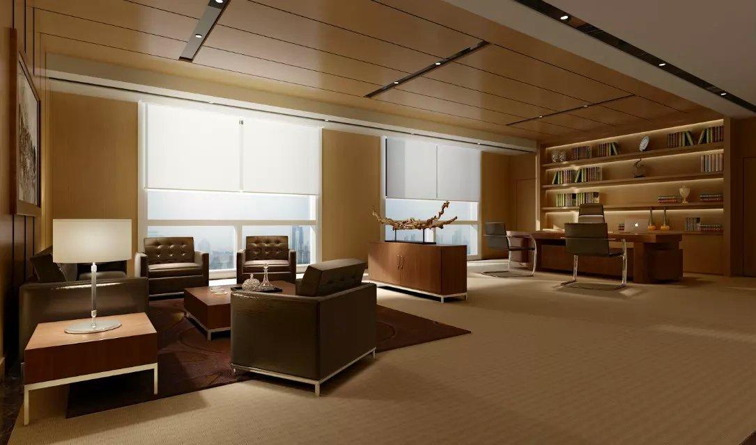 公司老板办公室室内装饰设计图片欣赏