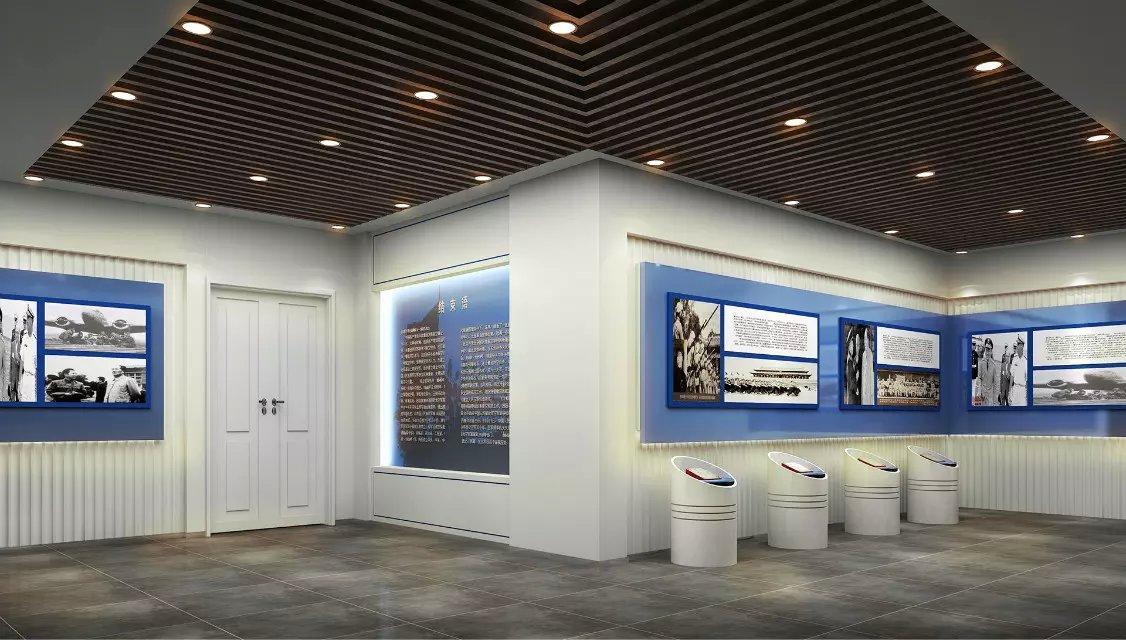 空军展示厅室内装修设计效果图欣赏图片
