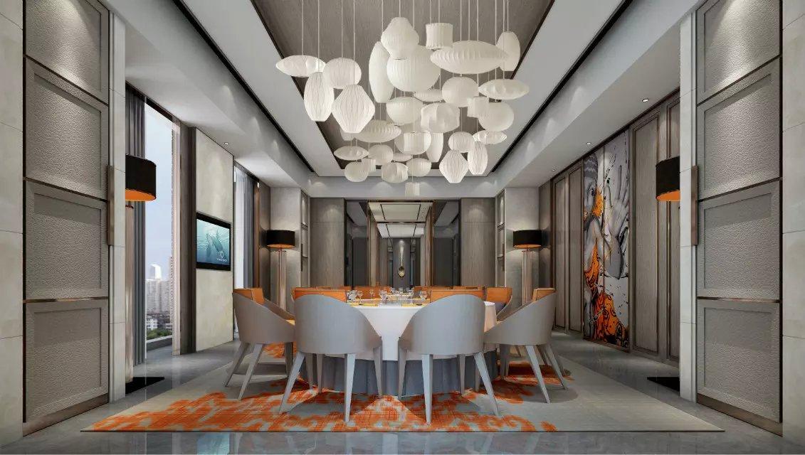 现代餐厅室内设计效果图_装修案例欣赏-保障网装修