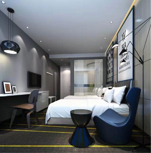 快捷酒店客房装饰效果图欣赏图片