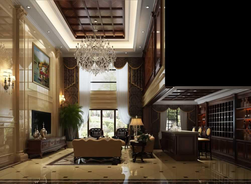 80平米现代欧式风格两居室装修效果图