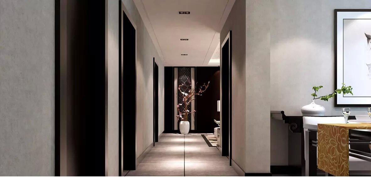 92平米新中式风格玄关装修效果图图片