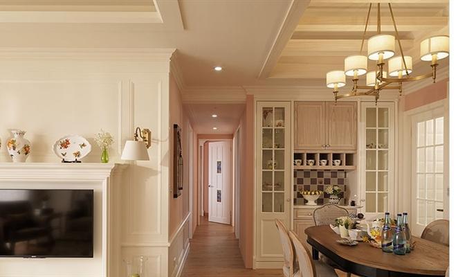 点赞 收藏 免费户型设计免费获取报价 餐厅  吊顶  设计 美式 以白色图片