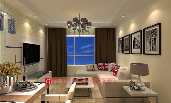 影视墙 客厅背景墙白色 简单明了,横向结构让整个影视墙显得更大 点赞
