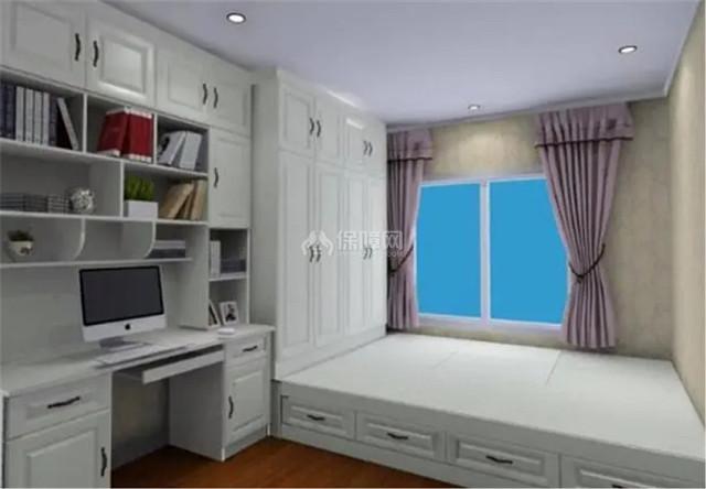 卧室小放不下床怎么办 直接做个地台床省空间又能收纳