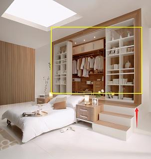 小卧室如何装衣帽间 床前移抬高60cm省地好看