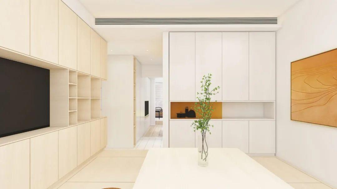 47平米老房翻新装修 色彩与光影的结合划分出6功能区
