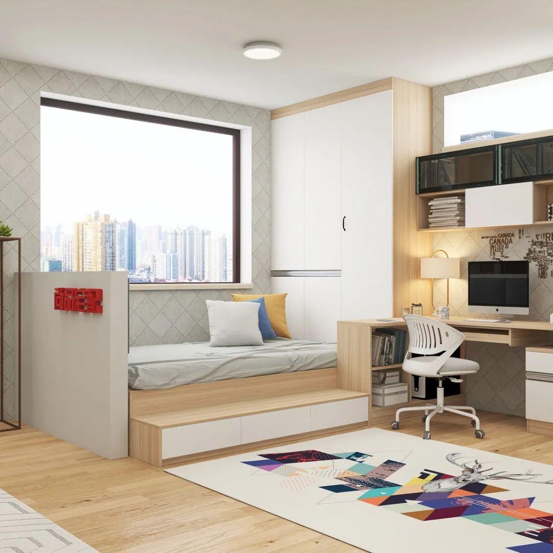 卧室里有书房的装修 7款一屋多用的设计赶紧收藏