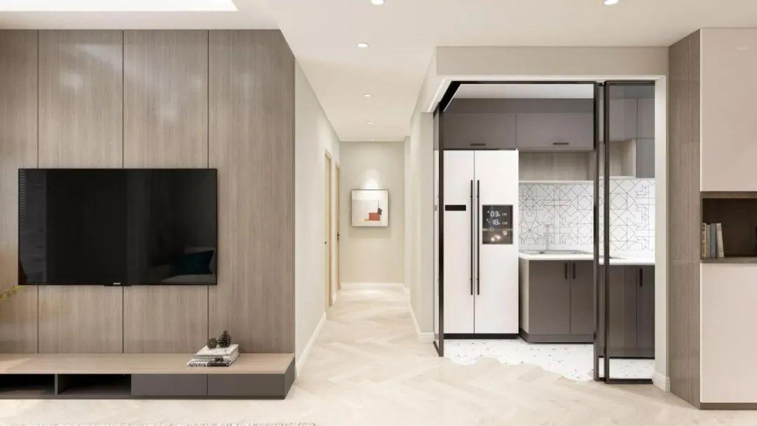 80平旧房子翻新改造 90后画家让三居室时尚又高级