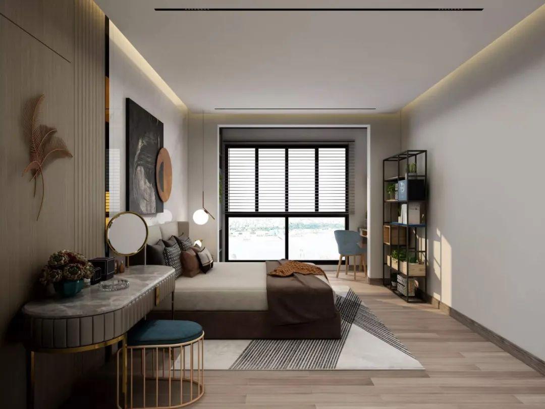 80平复古轻奢装修效果图 一个有远见的家!